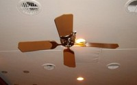 12V Remote Ceiling Fan White/White 36""