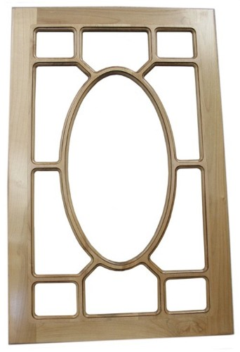Solid Hardwood Oval Mullion China & Hutch Cabinet Doors